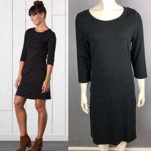 Horny Toad Nixi boatneck Dress 3/4 sleeves sz Lg